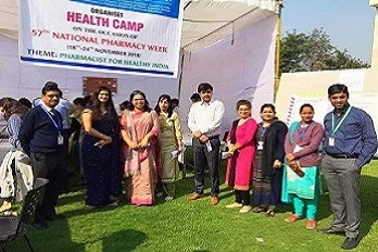 Gurugram Global College of Pharmacy organized Health Camp in the campus to celebrate National Pharmacy Week 2018.